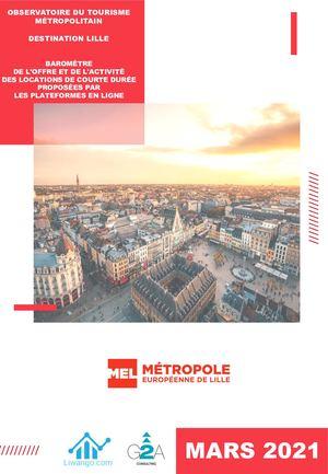 Observatoire du tourisme MEL Baromètre Airbnb Mars 21