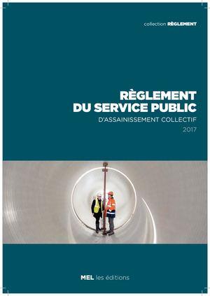 Règlement du service public d'assainissement collectif 2017