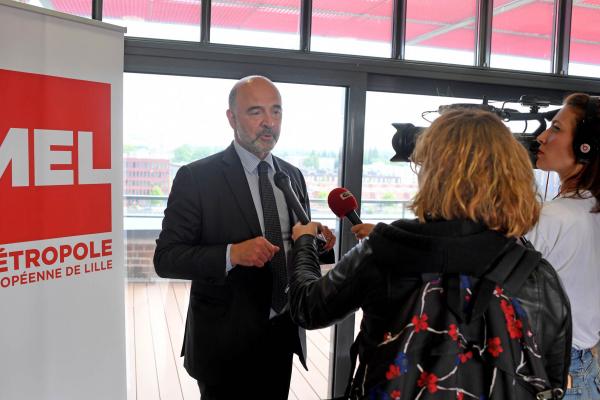 Pierre Moscovici en visite à EuraTechnologies