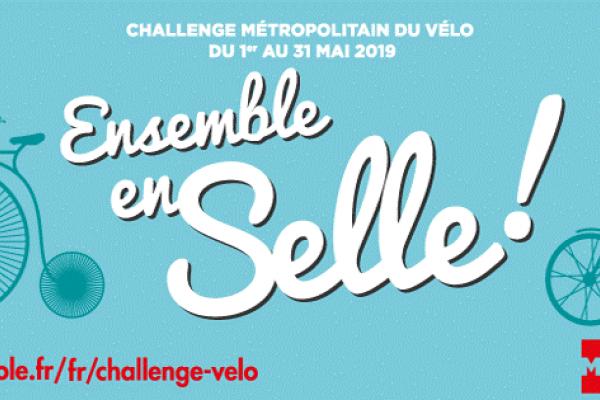 « Ensemble en selle » : 2è édition du Challenge métropolitain du Vélo Ouverture des inscriptions !